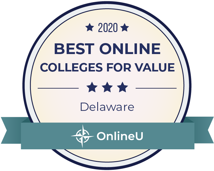 2020 Best Online Colleges in Delaware Badge