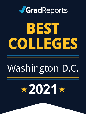 2021 Best Colleges in District of Columbia Badge