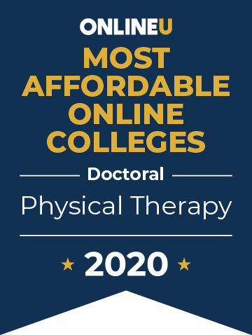 2020 Most Affordable Online Colleges Offering Doctoral in Physical Therapy Badge