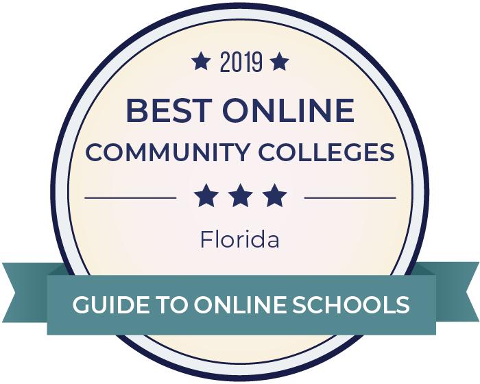 2019 Best Online Community Colleges in florida Badge
