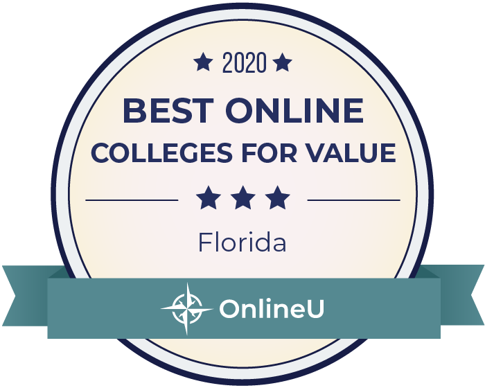 2020 Best Online Colleges in Florida Badge