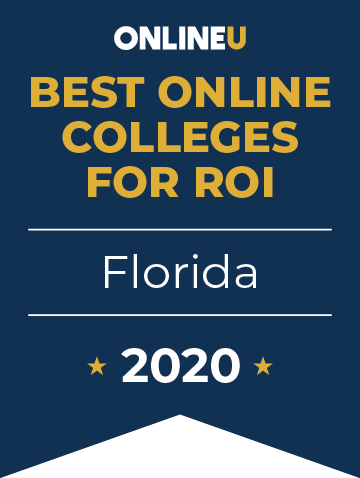2020 Best Online Colleges in Florida Badge