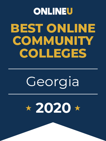 2020 Best Online Community Colleges in Georgia Badge