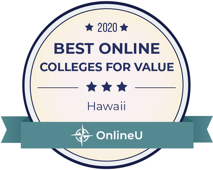 2020 Best Online Colleges in Hawaii Badge