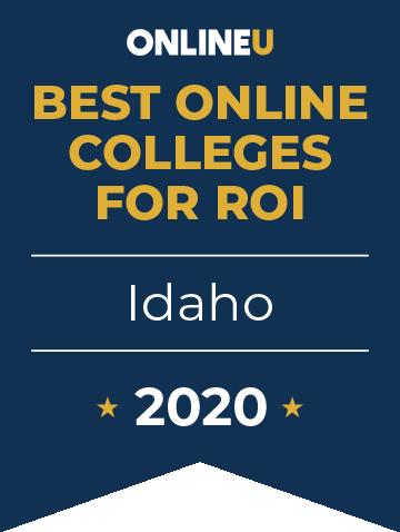 2020 Best Online Colleges in Idaho Badge