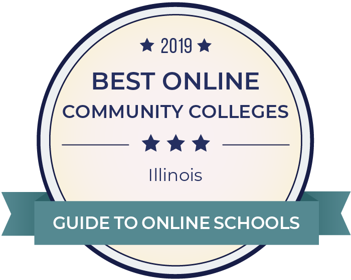 2019 Best Online Community Colleges in illinois Badge