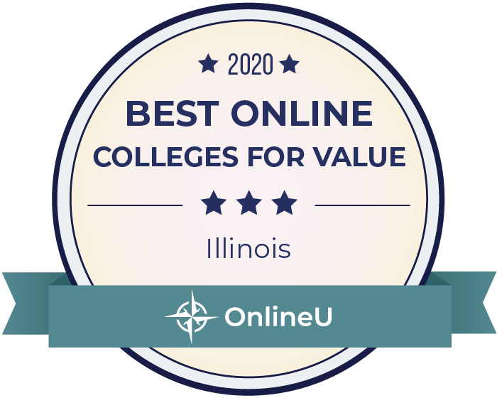 2020 Best Online Colleges in Illinois Badge