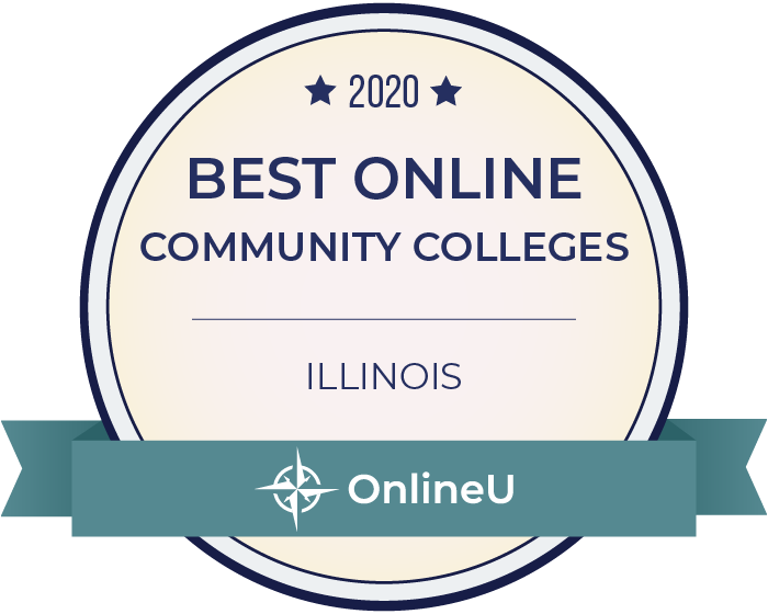 2020 Best Online Community Colleges in Illinois Badge