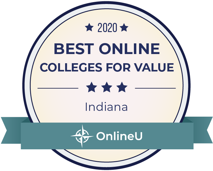 2020 Best Online Colleges in Indiana Badge