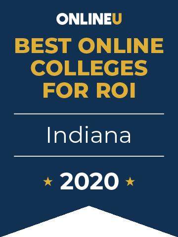 2020 Best Online Colleges in Indiana Badge