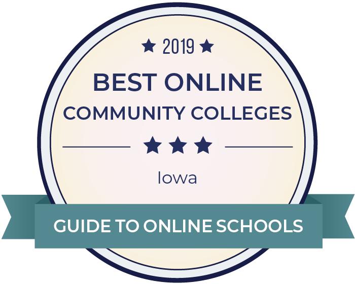 2019 Best Online Community Colleges in iowa Badge