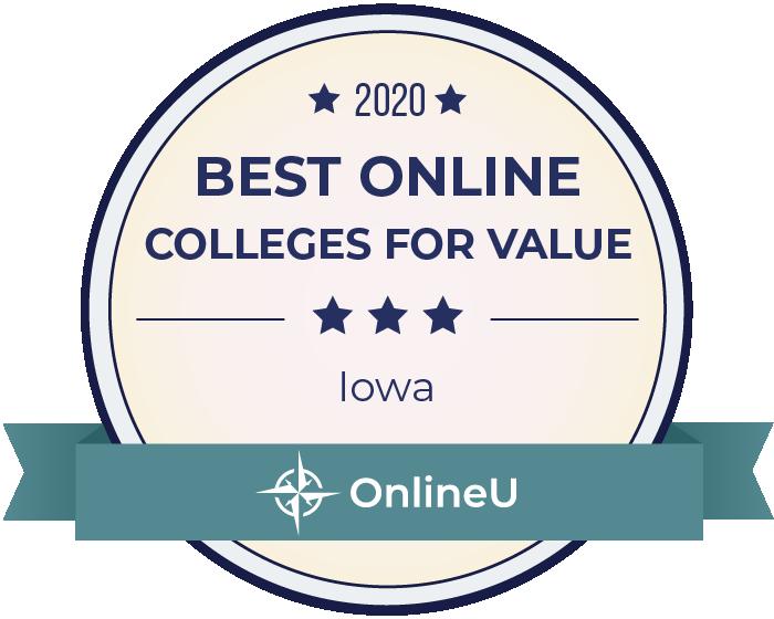 2020 Best Online Colleges in iowa Badge