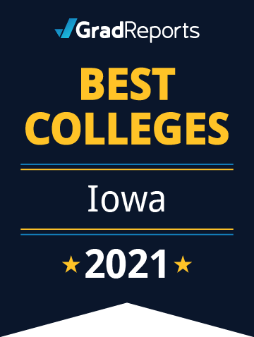 2021 Best Colleges in Iowa Badge
