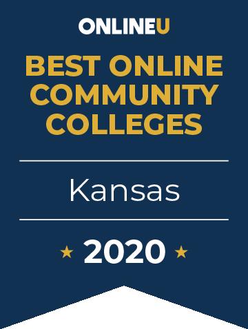 2020 Best Online Community Colleges in Kansas Badge