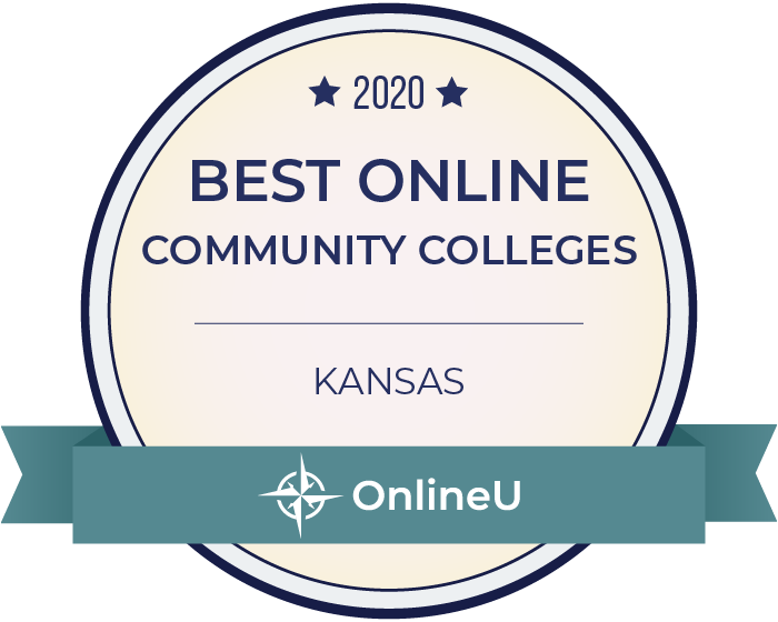 2020 Best Online Community Colleges in Kansas Badge