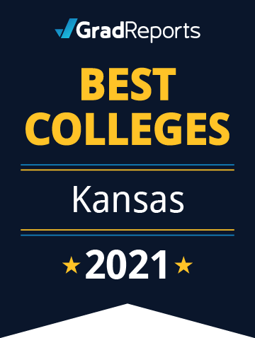 2021 Best Colleges in Kansas Badge