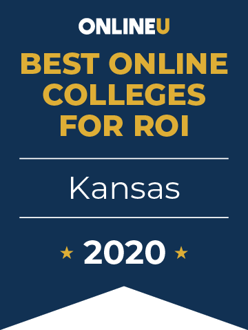 2020 Best Online Colleges in Kansas Badge
