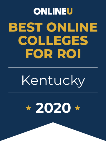 2020 Best Online Colleges in Kentucky Badge