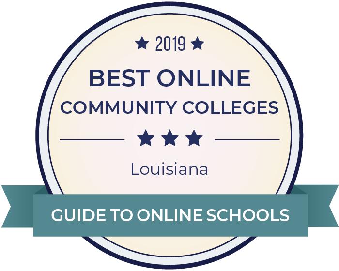 2019 Best Online Community Colleges in louisiana Badge