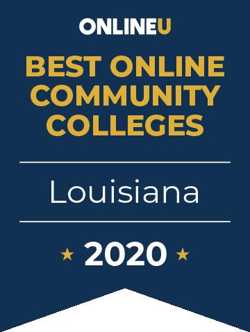 2020 Best Online Community Colleges in Louisiana Badge