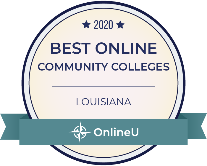 2020 Best Online Community Colleges in Louisiana Badge