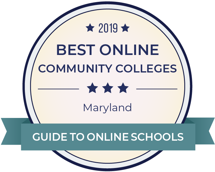 2019 Best Online Community Colleges in maryland Badge