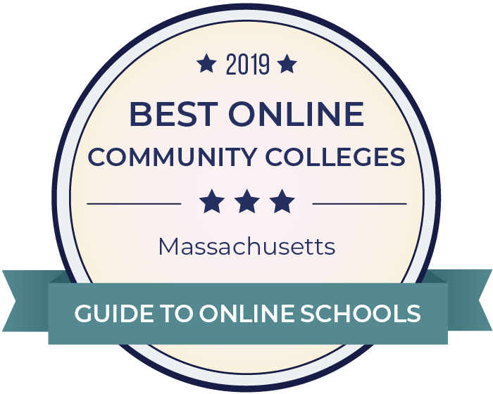 2019 Best Online Community Colleges in massachusetts Badge