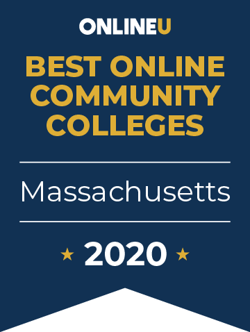 2020 Best Online Community Colleges in Massachusetts Badge