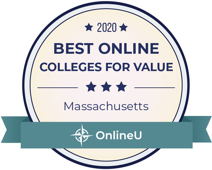 2020 Best Online Colleges in Massachusetts Badge