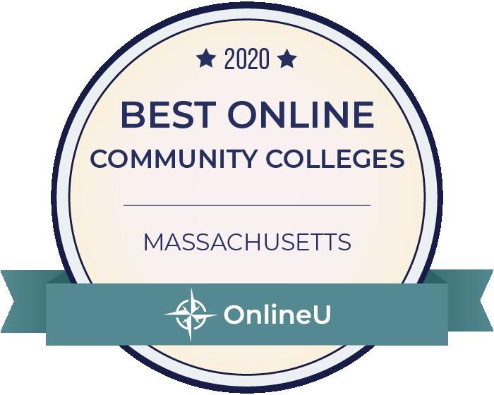 2020 Best Online Community Colleges in Massachusetts Badge