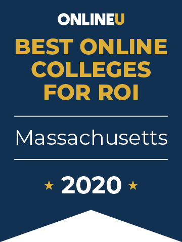 2020 Best Online Colleges in Massachusetts Badge