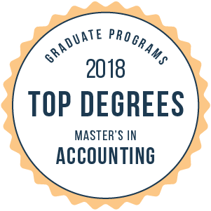 Accounting-Top Online Graduate Schools-2018-Badge