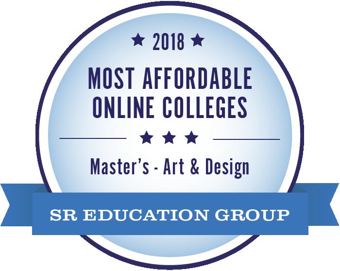 Art & Design-Most Affordable Online Colleges-2018-Badge
