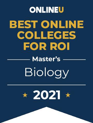 2021 Best Online Colleges Offering Master's Degrees in Biology Badge
