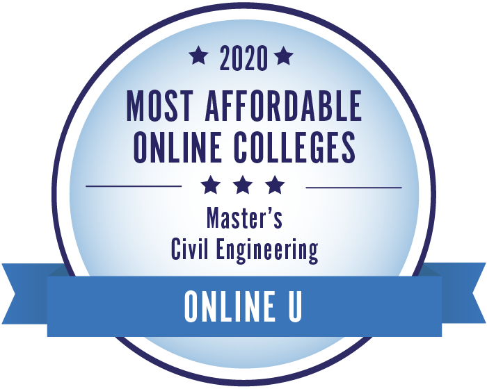 2020 Most Affordable Civil Engineering Masters Degrees Badge