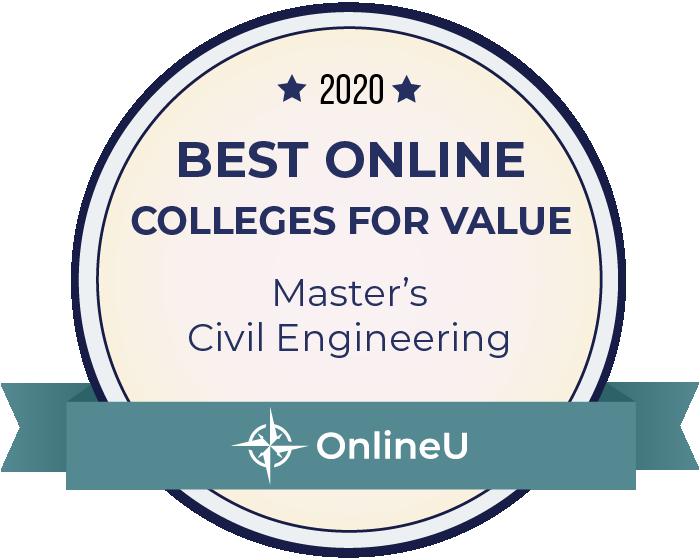 2020 Best Online Master's in Civil Engineering Badge