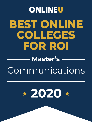 2020 Best Online Master's in Communications Badge