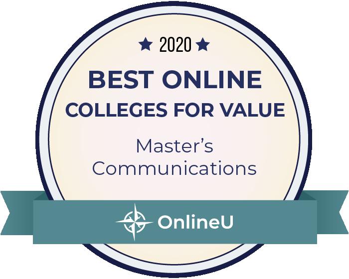 2020 Best Online Master's in Communications Badge