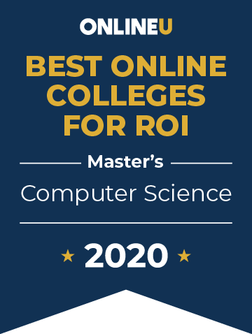 2020 Best Online Master's in Computer Science Badge