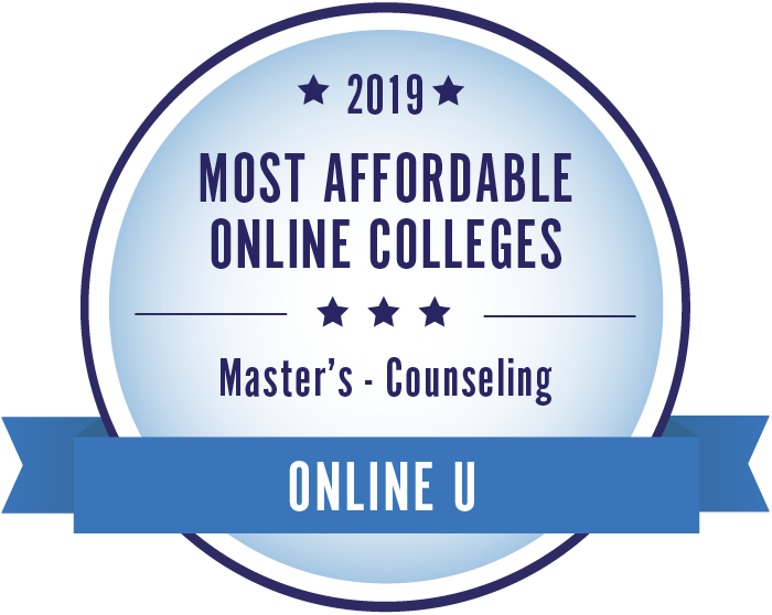 Counseling-Top Online Colleges-2019-Badge