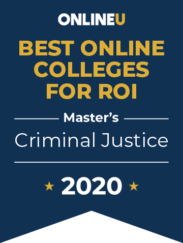 2020 Best Online Master's in Criminal Justice Badge