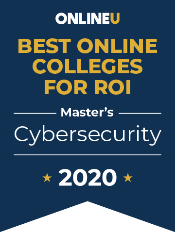 2020 Best Online Master's in Cybersecurity Badge