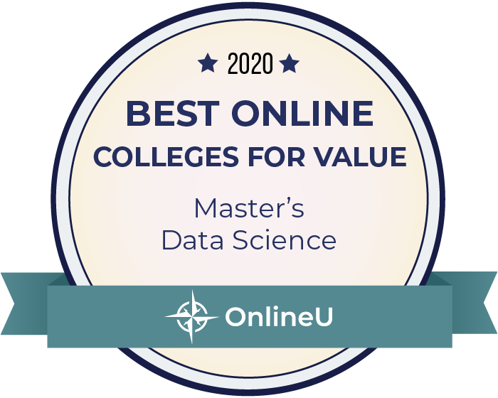 2020 Best Online Master's in Data Science Badge