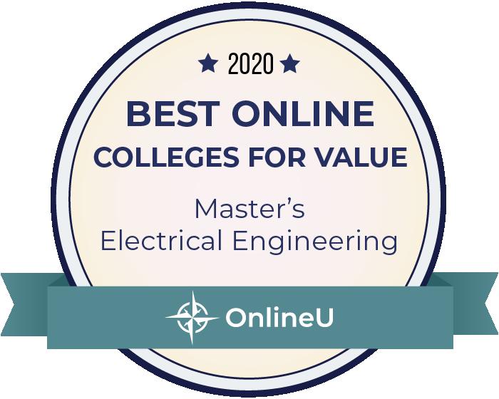 2020 Best Online Master's in Electrical Engineering Badge