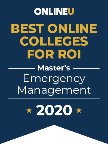 2020 Best Online Master's in Emergency Management Badge
