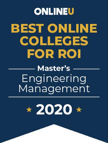 2020 Best Online Master's in Engineering Management Badge