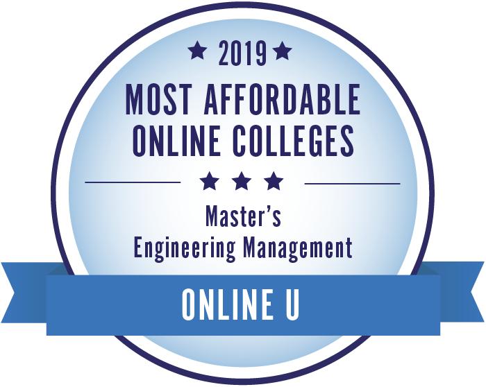Engineering Management-Top Online Colleges-2019-Badge