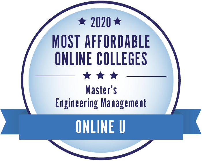 2020 Most Affordable Engineering Management Masters Degrees Badge
