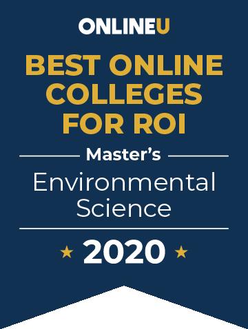 2020 Best Online Master's in Environmental Science Badge