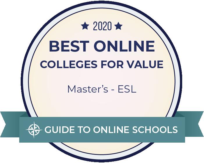 2020 Best Online Master's in ESL Badge